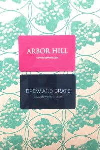 Arbor Hill and/or Brew & Brat Gift Card Certificate