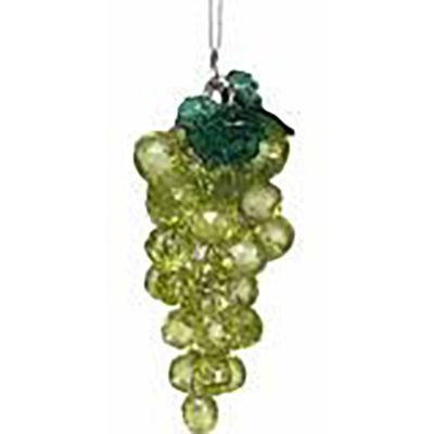 Green Beaded Grape Ornament