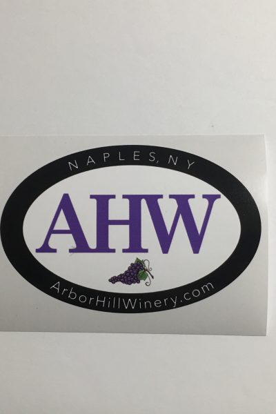 Arbor Hill Winery AHW Sticker