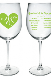 Green Heart of the Finger Lakes Wine Glass
