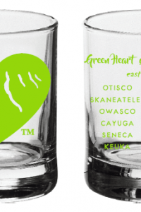 Green Heart of the Finger Lakes Shot Glass