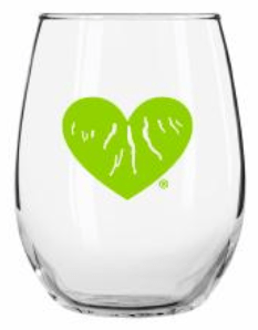 Green Heart of the Finger Lakes Stemless Wine Glass