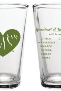 Green Heart of the Finger Lakes Beer Glass